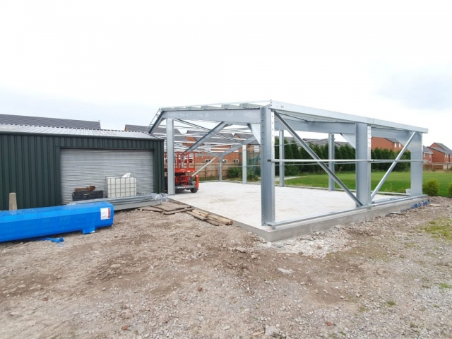 Galvinized steel frame