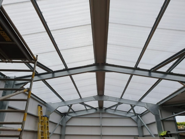 Clear roof cladding
