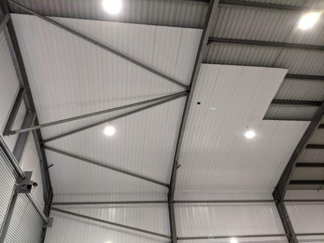 Installation of White Liner Sheet
